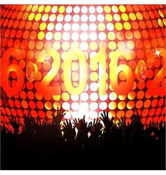 2016 glowing lights and crowd vector image vector image