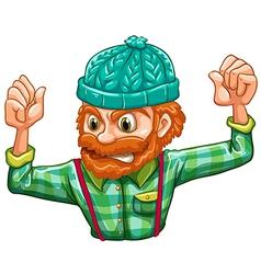 An angry lumberjack vector image