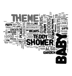 baby shower theme text word cloud concept vector image vector image