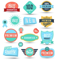 Badges tag label sticker colour set vector image