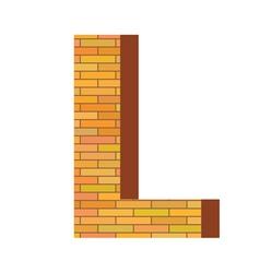 brick letter L vector image vector image