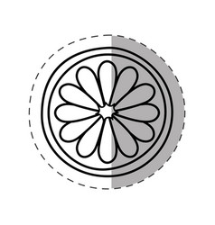 Flower spring symbol monochrome vector