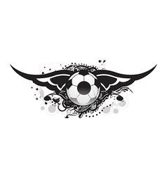 Football banner design vector image