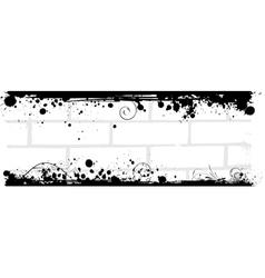 grunge brick back vector image