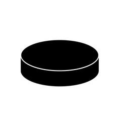 hockey puck icon vector image
