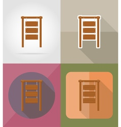 Wooden board flat icons 01 vector