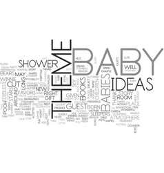 baby shower theme this is about babies right text vector image vector image