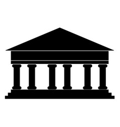 bank building the black color icon vector image vector image
