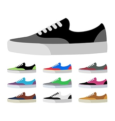 CANVAS SHOES vector image vector image