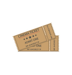 cinema tickets with shadow vector image