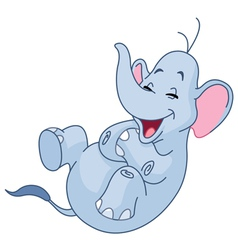 laughing elephant vector image vector image