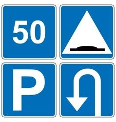 Set of traffic road sign vector