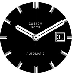 smart watch face c vector image vector image