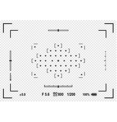 camera viewfinder focusing screen of the camera vector image vector image
