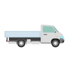 Cargo freight transportation truck vector image