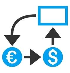 Cashflow Flat Icon vector image vector image