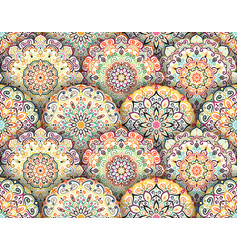 mandala pattern with shadows vector image