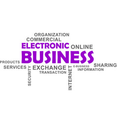 word cloud - electronic business vector image vector image