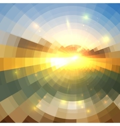 Abstract sunset effect circle technology mosaic vector image vector image