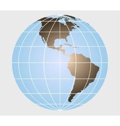 Earth globe - vector image vector image