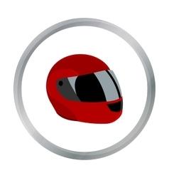 Motorcycle helmet icon cartoon single sport icon vector