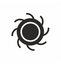 black hole icon vector image