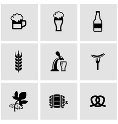 Black Oktoberfest icon set vector