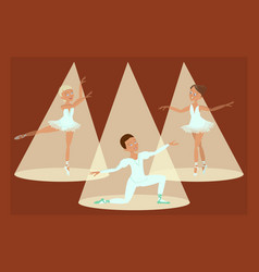 boy and girls ballet dancers vector image
