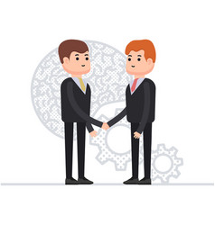 Business agreement of two businessmen interaction vector