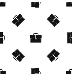 business briefcase pattern seamless black vector image