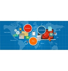 business continuity plan management strategy vector image
