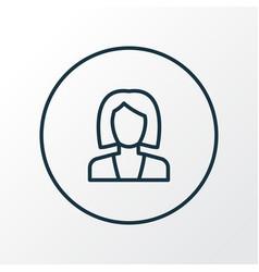 Businesswoman icon line symbol premium quality vector
