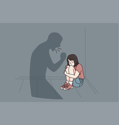 child abuse and fear concept vector image
