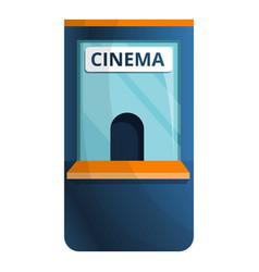 cinema ticket kiosk icon cartoon style vector image