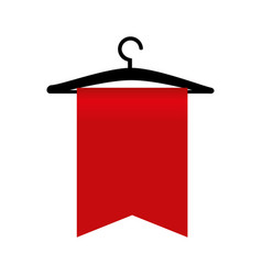 Clothes hook commercial icon vector