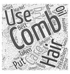 COMBING HAIR Word Cloud Concept vector