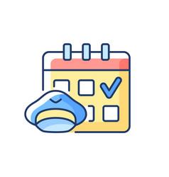 Crew scheduling rgb color icon vector
