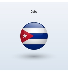 cuba round flag vector image