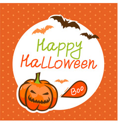 cute happy halloween design template vector image