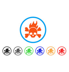 Death fire rounded icon vector