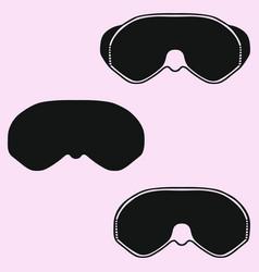 diving mask snorkel vector image