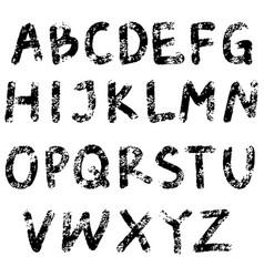 element design hand drawn doodle font black vector image