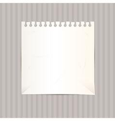 Empty White Paper Sheet vector