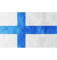 Finnish grunge flag background vector image vector image