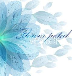 Floral round pattern blue flower petals vector