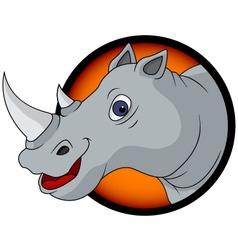 funny rhino cartoon vector image