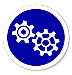 gears sticker vector image