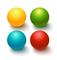 Glossy spheres buttons set vector
