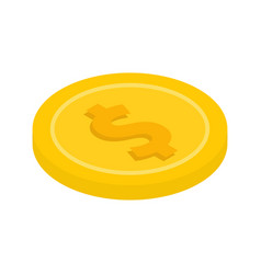 gold coin with a dollar sign icon vector image