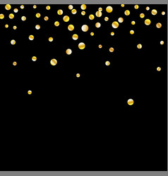 golden confetti on a black background vector image